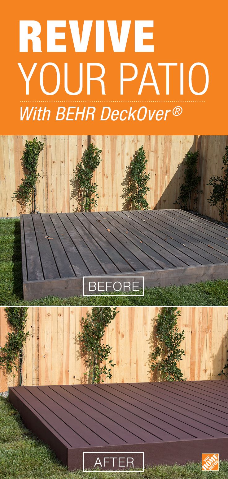 Deck restoration with behrs deckover the home depot