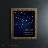 Harry Potter Wall Art Gold Foil Print - Harry Potter Quote ...