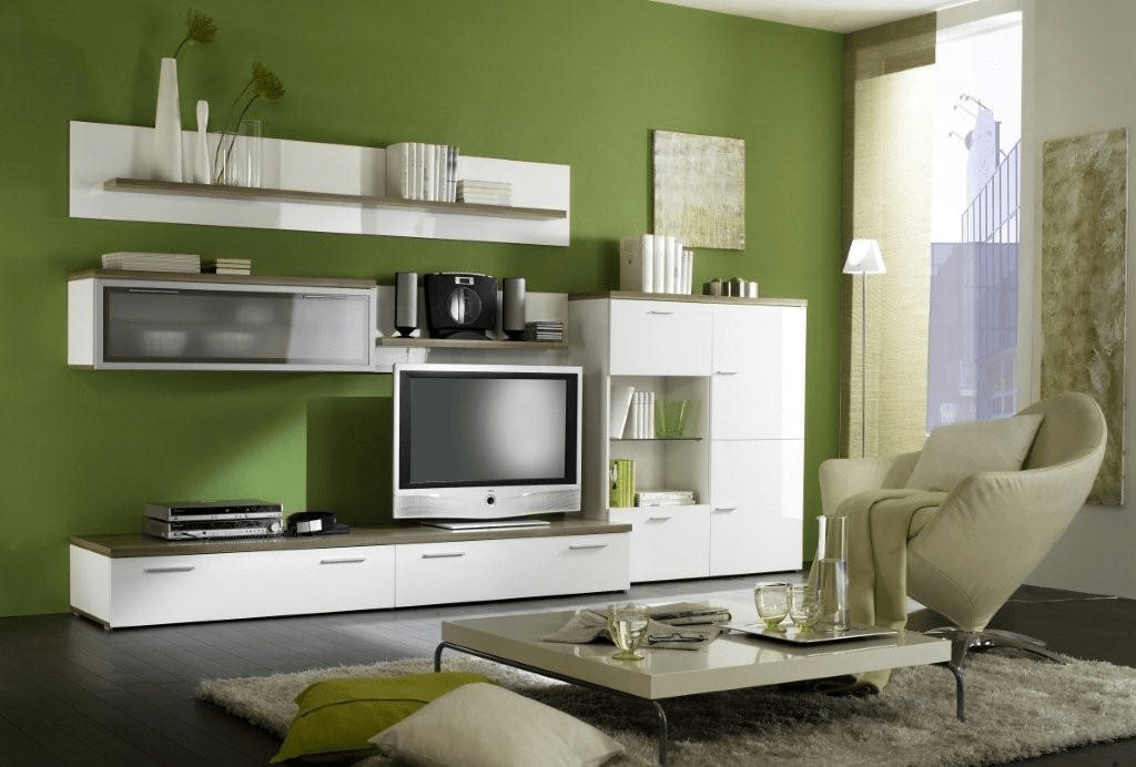 Decorating, Charming Living Room Wall Unit Design Idea