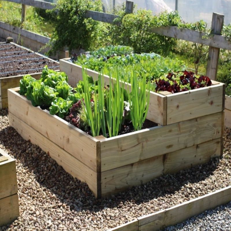 Raised Vegetable Beds Are Simple To Make And Easy To Maintain; Use