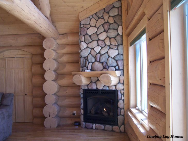 Widescreen river rock fireplace of designs laptop high resolution log cabin gas