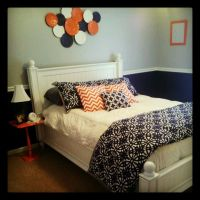 gray and navy decorating | navy blue, coral, and gray ...