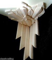 Art Deco Wall Corner trim - great idea to layer wood trim ...