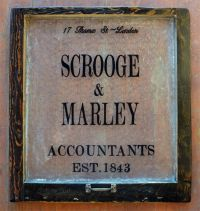 scrooge and marley sign