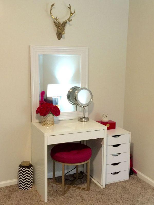 Makeup Vanity Ideas Small Spaces Web