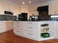 White Cabinets, White Cabinetry, Black & White Backsplash ...