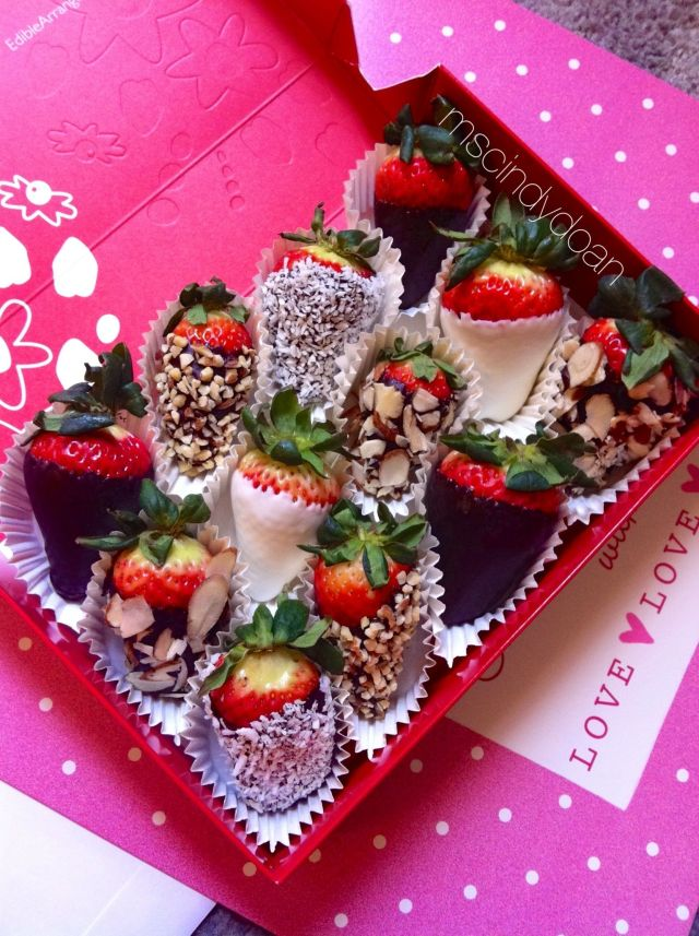 Chocolate covered strawberries at edible arrangements
