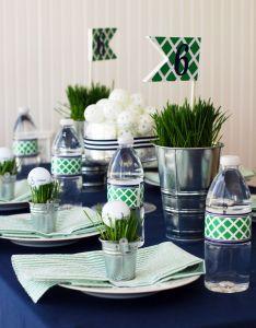 crisp blue white and green golf party pipeline marketing also rh pinterest