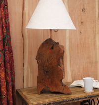Handmade Very Large Yew Wood Lamp Base - Gorgeous Rustic ...