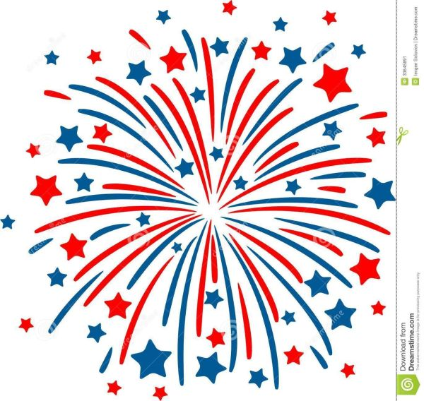 fireworks clipart background