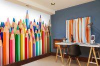 Coloured pencil crayons wall mural | murals | Pinterest ...