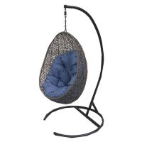 Henryka CW4307HC Hanging Chair with Cushion and Stand