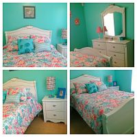 Turquoise and coral girl's bedroom | Allies bedroom ideas ...
