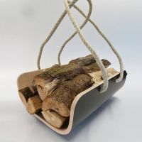 Modern Log Holder Available In Various Colours | Log ...