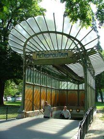 Paris Tropolitain Entr De La Station Porte Dauphine