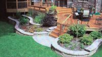 Retaining wall landscaping around deck in rockford il r e ...