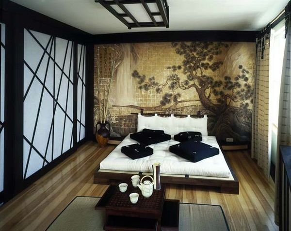 Asian Themed Bedroom1 Beautiful Oriental And Sliding Doors