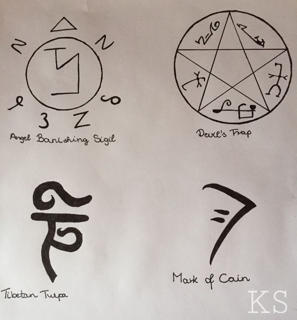 Supernatural Angel Warding Symbols