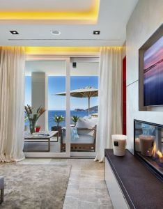 Elegant villa with breathtaking sea views also fireplace rh pinterest