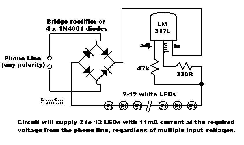 Esse é um circuito de iluminação de emergência com LEDs