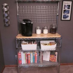 Free Standing Kitchen Counter Small Renovation Bakers Rack Turned Coffee Bar---- Mine Will Be Cooler Than ...