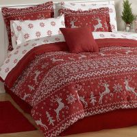 Christmas Holiday Red Reindeer Sweater Bedding Comforter ...