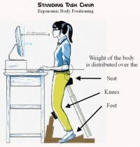 Standing Task Chair Places You Halfway Between Standing ...