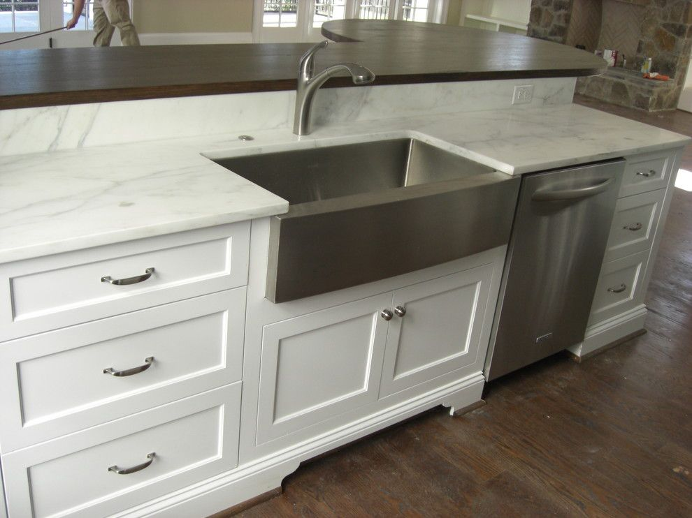 stainless steel farmhouse sink Pool Modern with Art studio