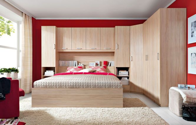 New Synthia King Size Modern Bedroom Furniture Set Overbed Storage. Overhead Bedroom Storage Cabinets   Bedroom Style Ideas