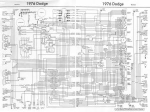 1976 Dodge Truck Wiring Diagram | truck | Pinterest
