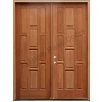 Solid Wood Main Double Door Hpd413
