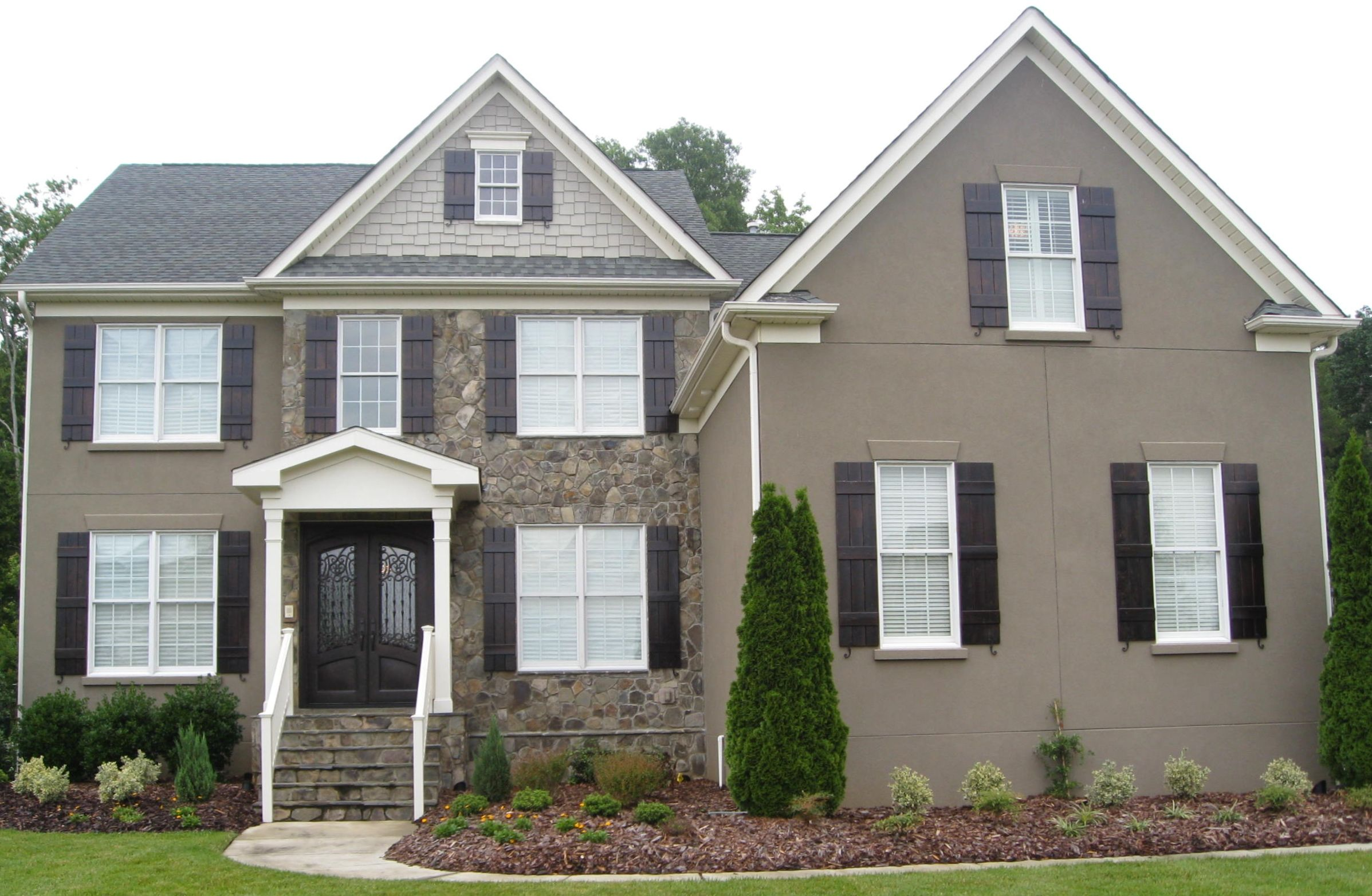 Gorgeous Natural Brick Exposed Wall Craftsman Style Homes Facade