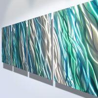 Metal Wall Art Decor Abstract Contemporary Modern ...