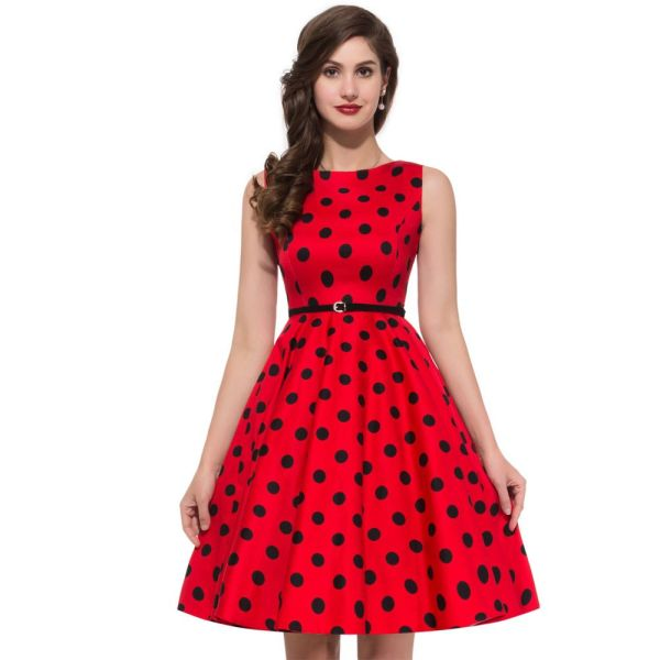 Women Summer Style Inspired Vintage Clothing Retro 50s Big
