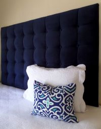 Queen size tall tufted upholstered headboard West Elm