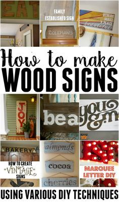 How To Make Wooden Signs Using Various Techniques Signs Home