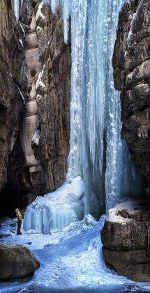 Jasper National Park Waterfalls Frozen
