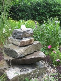stacked stone fountains - Google Search | Dad's Garden ...