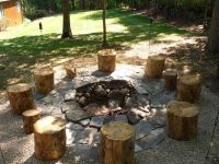 rustic fire pit ideas - Google Search | outdoor oasis ...