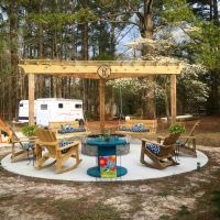 Outside fire pit with swings | Life Outdoors | Pinterest ...