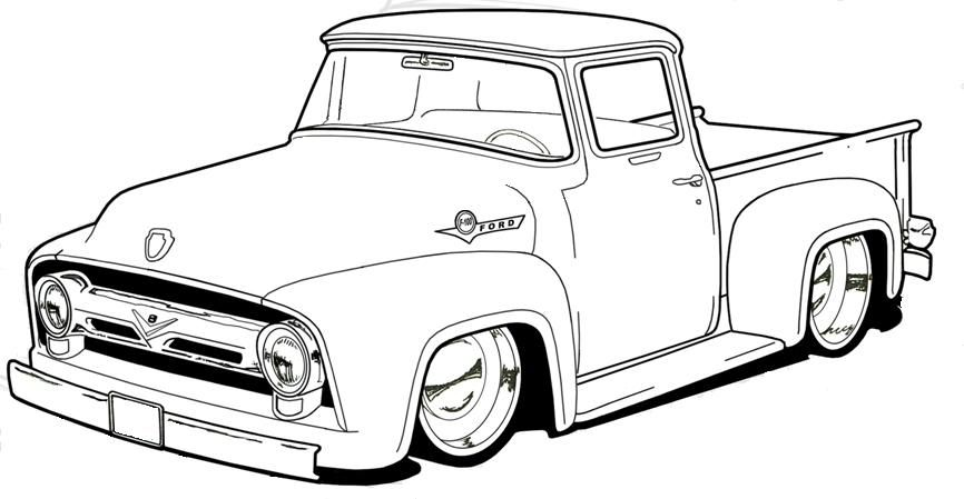 Coloring Pages Cars Trucks