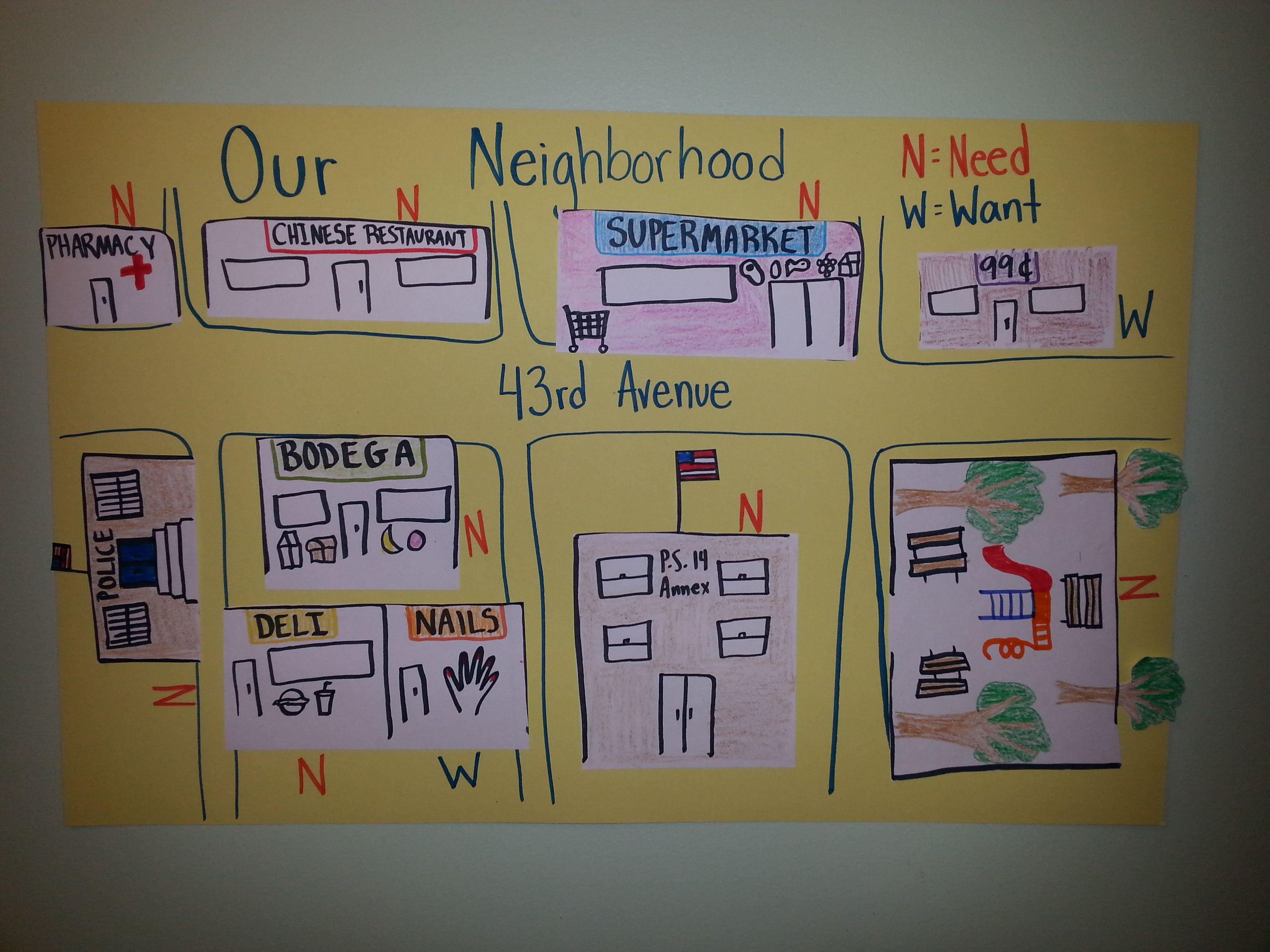 Kindergarten Collaborative Neighborhood Map Students