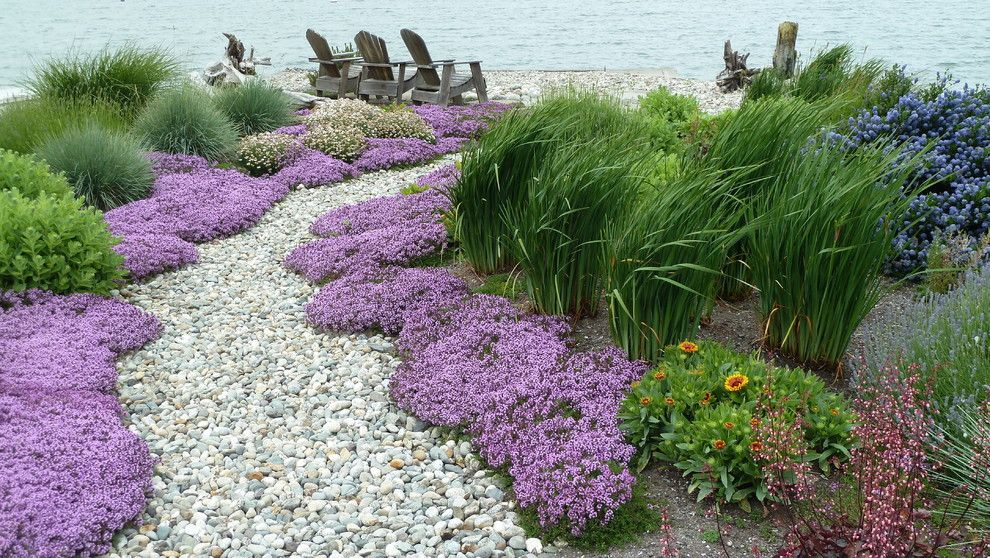Beach Garden Path Seattle Traditional Landscape Inspiration