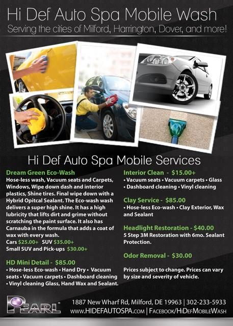 Eco Friendly Car Detailing Flyer Template