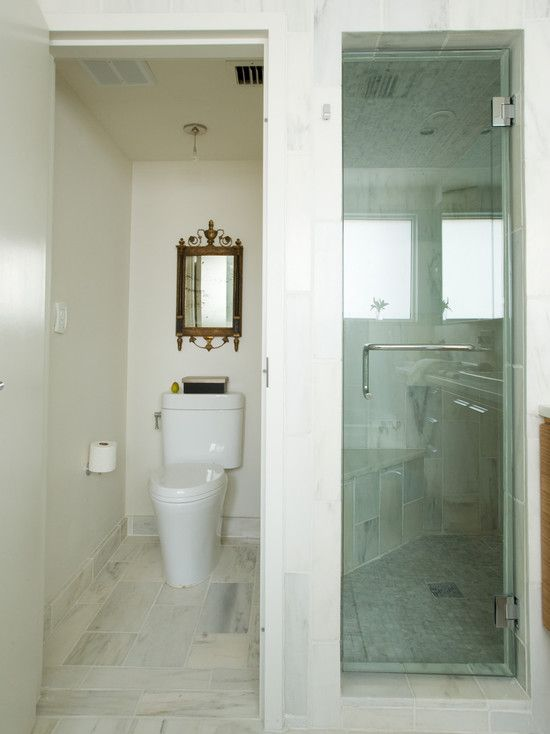 private toilet/standing shower design