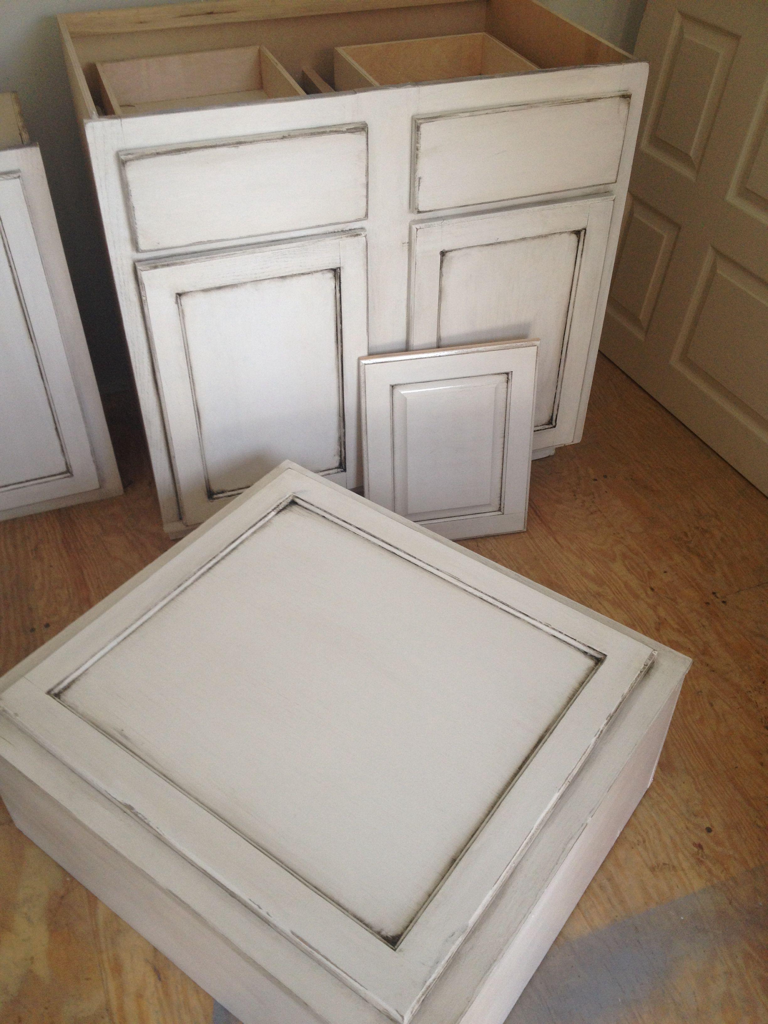 Painting oak cabinets antique white