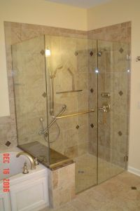 Tile Shower Stalls with Seat | ... shower enclosure with ...
