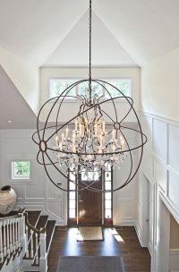 Foyer Lighting Ideas. Light is from Restoration Hardware ...