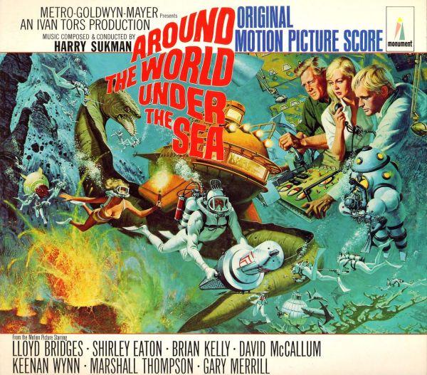 """ World Under Sea"" - Movie Poster 1966. 60' Movies Vinyls"