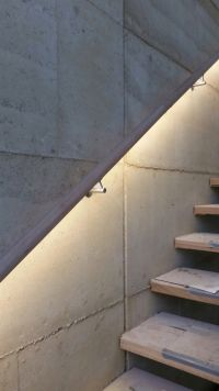 Timber LED handrail illuminated with the Forrest range by